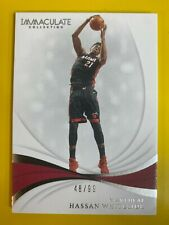 D50227  2018-19 Immaculate Collection #50 Hassan Whiteside #48/99