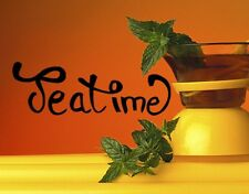 Tea Time - Highest Quality Wall Decal Sticker