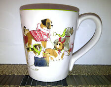 1 USED Pier 1 Imports Park Avenue Puppies Ironstone Coffee Mug GREAT CONDITION