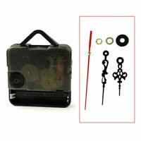 Quarz-Wanduhr Bewegungsmechanismus Black Hands DIY Schwarz Ersatzteile Kits M8V8