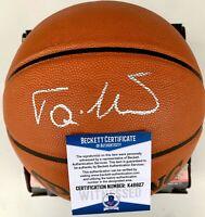 TONI KUKOC Autographed Signed Spalding Basketball Michael Jordan BECKETT COA BAS