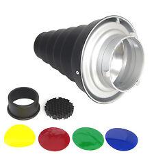 DynaSun A188 Réflecteur Snoot Nez Étroit Conique avec Grille Filtres x Bowens S