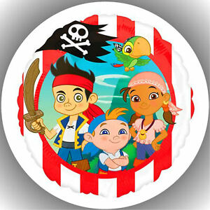 Tortenaufleger Tortenbild Fondant - Oblate Jake und die nimmerland Piraten P2