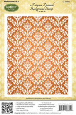 """JUSTRITE CLING Stamps AUTUMN DAMASK BACKGROUND STAMP CL-03895 4.5"""" x 5.75"""""""