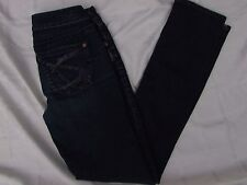 SILVER JEANS SIZE 26 WESTERN SNAZZY BACK EMBROIDERED POCKETS AIKO SLIM