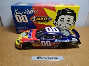 2004 Kenny Wallace #00 Aaron's / Mad Magazine MWR Chevy 1:24 NASCAR Action MIB