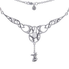 Rabbit Hare Goddess Ostara .925 Sterling Silver Necklace by Peter Stone Jewelry