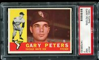 1960 Topps Baseball #407 GARY PETERS Chicago White Sox  RC ROOKIE PSA 7 NM