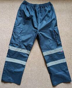 Leo Workwear Appledore Navy Cargo Overtrousers XL