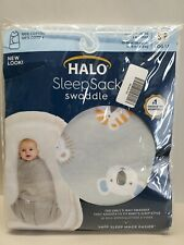 Halo Baby Sleep Sack Swaddle. Size: S/P 3-6 months (23-26in) Grey with Animals