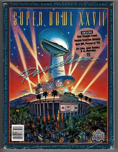 Official NFL Super Bowl XXVII program! Dallas Cowboys vs Buffalo Bills!