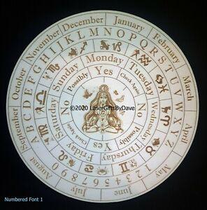 Pendulum Dowsing Spiritual Board - Laser Engraved - 4 designs