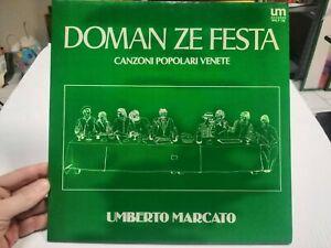 Umberto Marqué LP Vinyle Disco Doman Ze Fête Chansons Populaires Venete Veneto