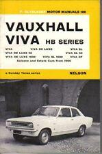 Vauxhall Viva HB Series from 1966 Olyslager Motor Manual Viva De Luxe SL GT +