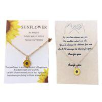 Mode Frauen Gänseblümchen Halskette Sweet Sun Flower Anhänger Kette Schmuck Neu