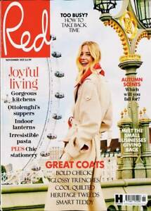 RED MAGAZINE COMPACT SIZE ISSUE NOVEMBER 2021 ~ NEW ~