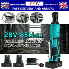 3/8'' 28V Electric Cordless Angle Wrench Ratchet Right 85N.m & 2 Li-ion Battery