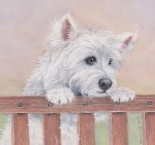 VIOLIN art westie west highland white terrier dog PRINT JSCHMETZ modern 8x10