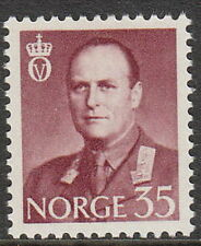 Stamp Norway Sc 0361A 1958 King Olav V Folkekongen King of the People Norge MNH