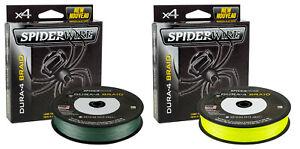 Spiderwire Dura 4 Braid Line Hi-Viz Green or Yellow 150m Spool Fishing