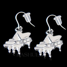w Swarovski Crystal ~Grand Baby Piano~ music Musical Instrument Earrings Jewelry