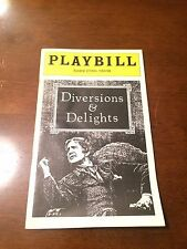 Playbill  Eugene O'Neill Theatre April 1978 Diversions and Delights
