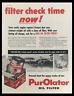 1956 Purolator Micronic Oil Filter Refill Vintage Print Ad