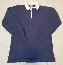 Vintage Solid Navy Blue THATCHER AND CROSS RUGBY GEAR Size Large USA Made