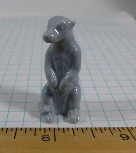 """WADE meerkat, grey-blue, 1-1/2"""" tall ceramic figure"""