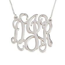 Monogram Necklace - Sterling Silver 1.2″ Handmade Monogram Pendant- oNecklace ®