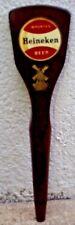 "HEINEKEN BEER TAP WOOD wooden VINTAGE COLLECTIBLE 12 "" LONG HOLLAND WINDMILL"