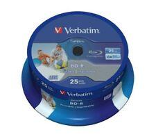Verbatim Bd-r 25gb 6x DataLife Inkjet White HTL 25er Cakebox