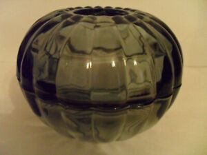 VINTAGE 2 PIECE ROUND CLEAR GRAY FAIRY LAMP, UNUSUAL
