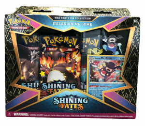 NEW Pokémon TCG: GALARIAN MR. RIME SEALED Shining Fates Mad Party Pin Collection