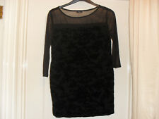M & Co Petite Black Velour Top - Size 14 - Unworn