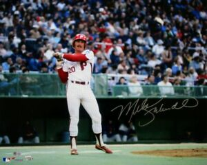 Mike Schmidt Signed Philadelphia Phillies 16x20 On Deck Circle Photo Fanatics
