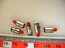 5 lots LED-ampoules ba5s knagge, rouge, 16-22 v pour Märklin Accessoires #led11-r