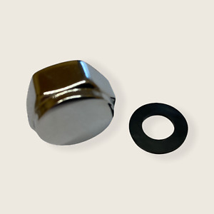 """Chrome Cap / Blank Nut With Washer 1/2"""" BSP 