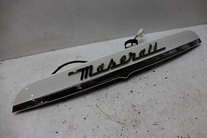 Maserati Ghibli M157 2014 Rear Boot Bootlid Chrome Panel Handle + Camera J165