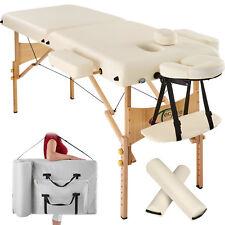 Massagetisch Massagebank Massageliege 2 Zonen in beige B-Ware