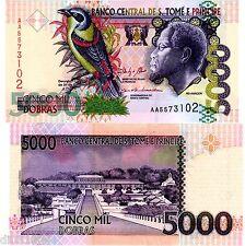 SAINT THOMAS & PRINCE Billet 5000 DOBRAS 2013 ( 2014 ) P65 OISEAU UNC NEUF