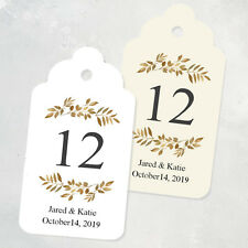 Gold Leaves Wedding Table Numbers Tags Personalized Table Numbers