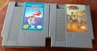 Nintendo NES Karate Champ & Operation Wolf carts cleaned & tested, authentic
