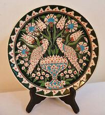 RARE Signed B. Kismetli ~Kutahya Turkey~Hand Made Tile Turkish Wedding Plate 9'