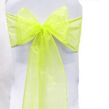 Wedding Party Reception Banquet Venue Decor Organza Sashes Chair Cover Sash Bow