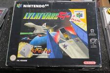 Lylat Wars Nintendo 64 N64 UK PAL Original Tested * Big Box + Rumble Pack