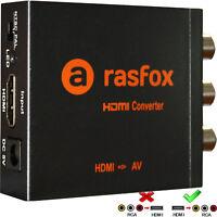 HDMI to AV / RCA Converter 1080P Fire TV sticker Roku 2/3/4 Apple TV Chromecast