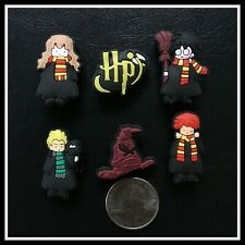 Set of 6 Shoe Charms for Crocs HARRY POTTER Ron Hermione Malfoy Sorting Hat