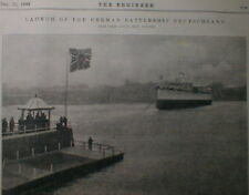 German Battleship SMS Deutschland Launch 1904 Kriegsmarine Navy Germany