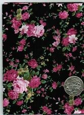 Fat Quarter Single Floral designs 100% Cotton Fabric Quilting Choose preferences